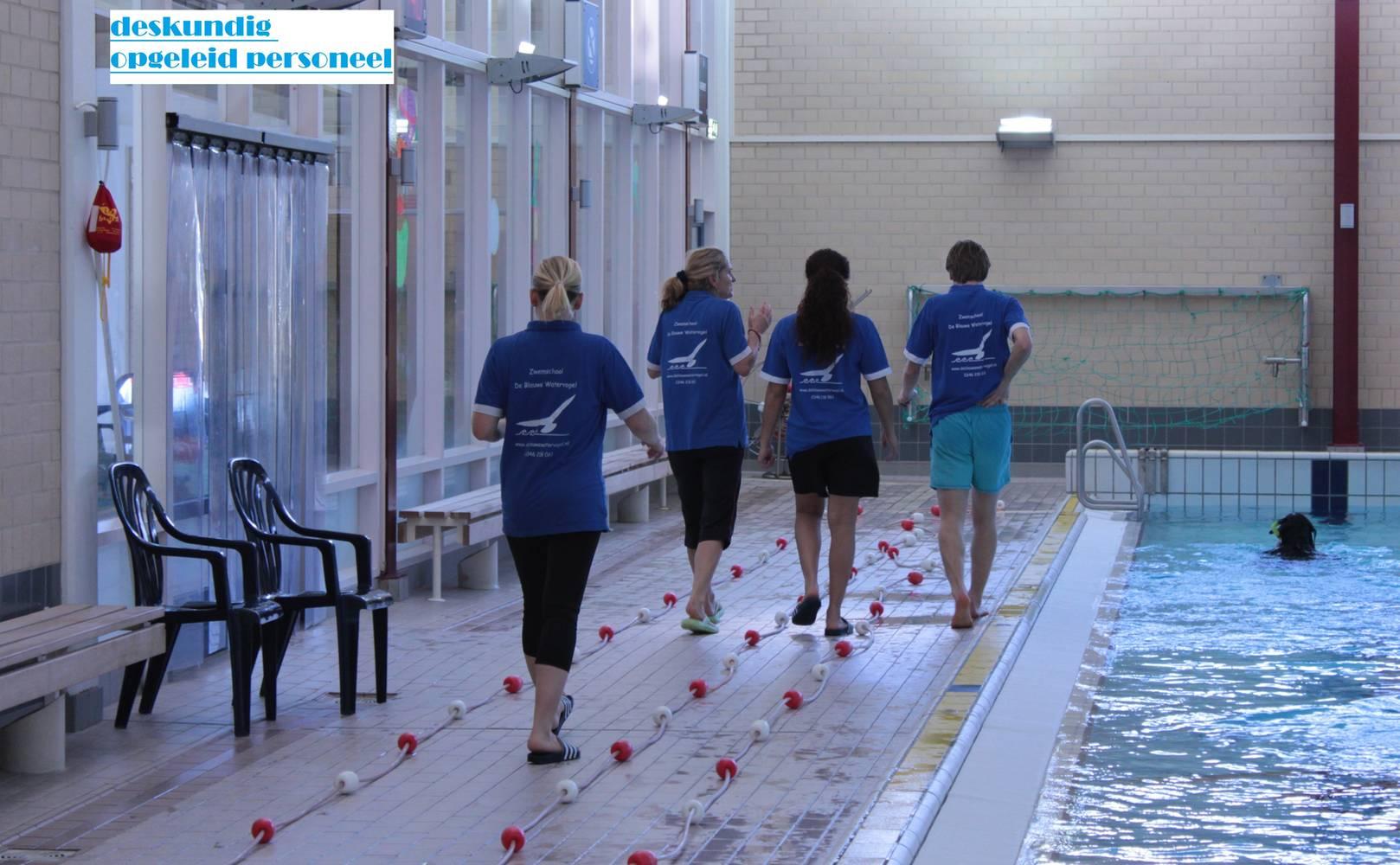 Zweminstructeurs bij  De Blauwe Watervogel